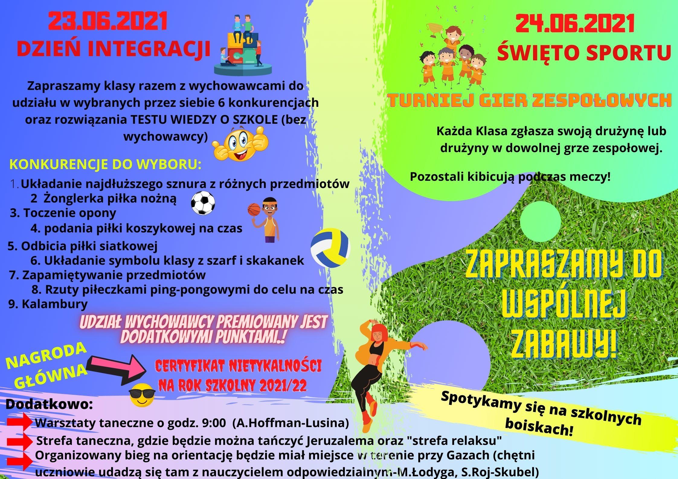 Dzień Integracji i Święto Sportu
