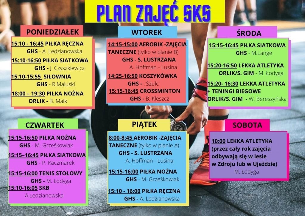 Plan zajęć SKS